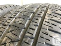 These are very good Quality tires in great shape. 80 to
