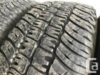 These tires are in excellent shape They have 75% tread