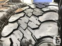 These are very good Quality tires in great shape. 70 to