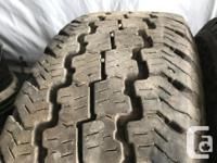 These are very good Quality tires in great shape. 65 to