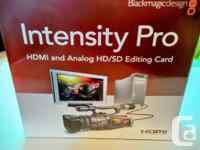 Black magic intensity pro. This cards can take a HDMI