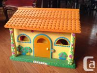 This interactive talking Dora house comes with