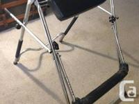 Perfect condition Inversion Table for sale! Adjustable