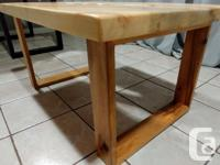 Beautiful inverted maple coffee table. Straight cut