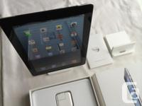Like new, mint condition, 64GB Black LTE iPad 3 in all