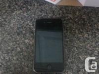 iPhone 4 with 6gb storage, locked to Kodoo I believe,