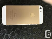 White and gold 16gb iPhone 5s for sale. Locked to the