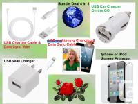 PACKAGE DEAL OF BRAND NEW iPHONE, iPOD OR iPAD USB DATA