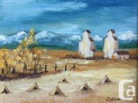 """""""Prairie Farm"""" signed by Irene Bosecker 1969"""