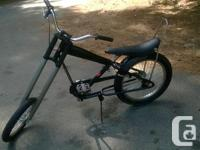 """Iron horse chopper style bike This bike has a 16"""" front"""