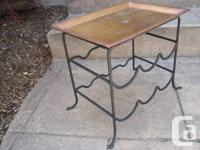 Small Copper and functioned Iron Plant stand OR Wine