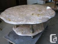 ITALIAN MARBLE 1950?S COFFEE TABLE THIS SOLID MARBLE
