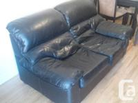 Very Good condition quality black Italian leather