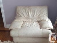 3 Piece Italian Leather Sofa, Love Seat & Chair. In