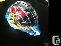 """selling an Itech 1400 """"Keeper"""" Goalie Mask. used for 5"""