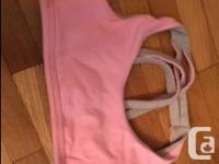 We have 3 Ivivva sports bras for sale. One pink, one