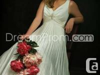 Large size Wedding celebration Gown, Wide straps on