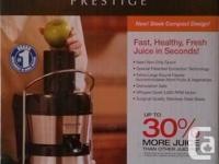 Power Juicer Prestige makes fast, healthy and fresh