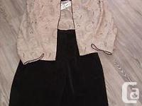 jacket blazer , top , black pants, three pieces size 8