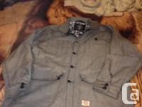 New Crooks and Castles Jacket, color light grey with