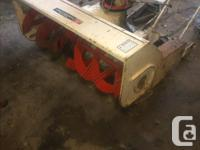 """For sale, Jacobson 42"""" two stage snowblower. Mounts on"""