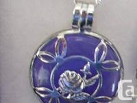 New items- lilac jade set in sterling silver  Pendant