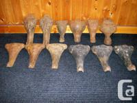Great deal of 12 cast iron range legs. $5.00 each or