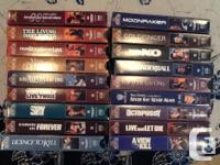 $1 each VHS collection James Bond Collection (16 VHS