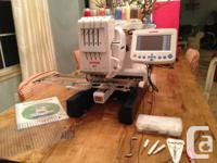 IJanome MB4 embroidery machine - $4500 Bought as a