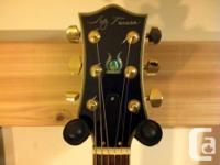 JAY TURSER LES PAUL, BLACK WITH FULL BINDINGS, 2V 2T,