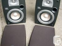 Pair of 2-way, 4-inch bookshelf speakers includes wall