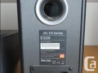 JBL ES Series speakers. 2 - ES20 Speakers and 1 - ES25C