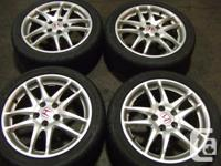 JDM ACURA RSX DC5 TYPE-R SILVER WHEELS 215/45R17 MAGS