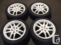 JDM ACURA RSX DC5 TYPE-R WHITE WHEELS 215/45R17 MAGS