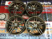JDM ADVAN AVS MODEL 5 BRONZE WHEELS MAGS IMPORTED FROM