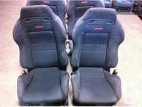 JDM BLACK RECARO DC2 SEATS HONDA ACURA CIVIC INTEGRA