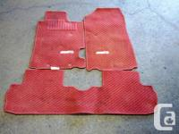 JDM HONDA ACURA RSX DC5 INTEGRA TYPE-R RED FLOOR MATS