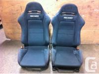 JDM HONDA ACURA RSX INTEGRA DC5 BLACK RECARO USED SEATS
