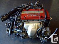 JDM HONDA EURO-R H22A COMPLETE ENGINE 5 SPEED LSD T2W4