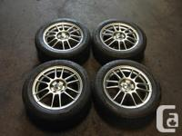 JDM MAGS ENKEI 205/55R16 WITH TIRES ALL MOST NEW. MAGS