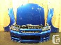 JDM NISSAN SKYLINE GTR R34 FRONT END NOSE CUT IMPORTED