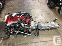 JDM NISSAN SKYLINE GTR RB26DETT R34 MOTOR WITH 6 SPEED