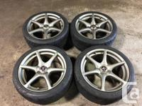 JDM NISSAN SKYLINE GTR R34 OEM WHEELS MAGS WITH TIRES