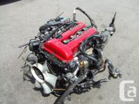 JDM NISSAN SR20DET S13 RED TOP MOTOR, MT TRANSMISSION