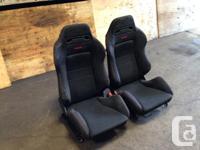 JDM BLACK RECARO DC2 SEATS HONDA ACURA CIVIC INTEGRA