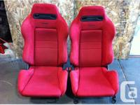 JDM RED RECARO DC2 SEATS HONDA CIVIC INTEGRA ACURA JDM