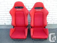 JDM HONDA ACURA RSX RED DC5 RECARO SEATS TYPE-R - Pair
