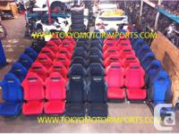 JDM SEATS RECARO DC2 DC5 RED BLACK BLUE STI SEATS BRIDE