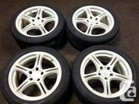 JDM SSR GT1 5X114.3 17INCH MAGS WITH TIRES FOR MORE