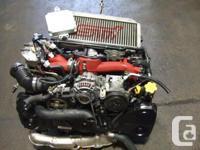 JDM SUBARU WRX STI EJ20 TURBO VF37 VERSION 8 ENGINE,